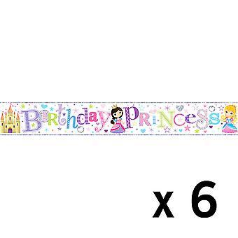 Simon Elvin Foil Banner Birthday Princess x 6