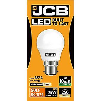 1 JCB X LED 3w = 25w B22 Golf Ball bombillas bayoneta 250lm blanco cálido 3000k no regulable [clase energética A +]