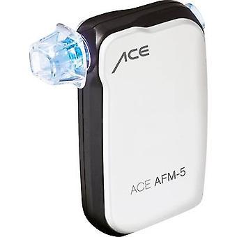 Bianco di Etilometro ACE AFM-5 0 fino a 4 ‰ Visualizza i risultati su smartphone