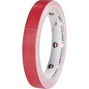 TOOLCRAFT HEB15L10RC HEB15L10RC Cloth tape HEB15L10RC Red (L x W) 10 m x 15 mm 1 Rolls