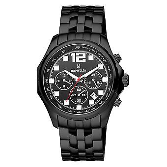 ORPHELIA Men Dual Time Watch Black Stainless steel OR82701
