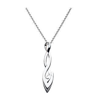Sterling Silver Ladies Celtic Organic Twist Pendant with 46cm Chain