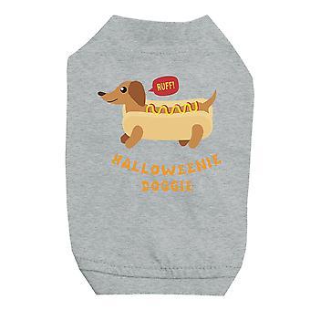 Halloweenie Doggie Grey Pet Shirt for Small Dogs