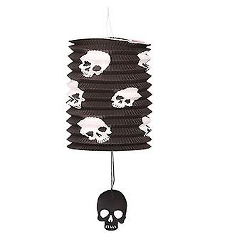 TRIXES Pop up Black Skull Barrel Lamp Halloween Party Decoration Lantern