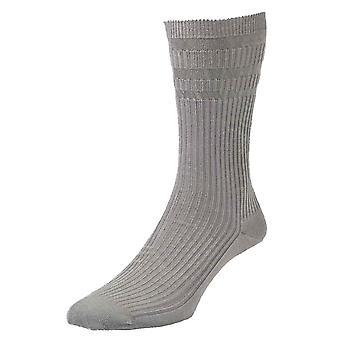 3 זוגות חבילה HJ91 Hall MENS SOFTOP רפוי רחב רחב כותנה לא אלסטי גרביים עשירים 10-13 באמצע אפור