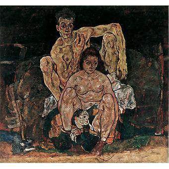 The Familly, Egon Schiele, 50x50cm
