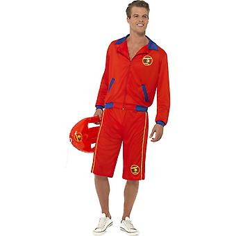 Baywatch Rettungsschwimmer Kostüm Lifeguard Hasselhoff Herren