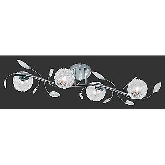 トリオ照明ワイヤー現代クロム金属天井ランプ