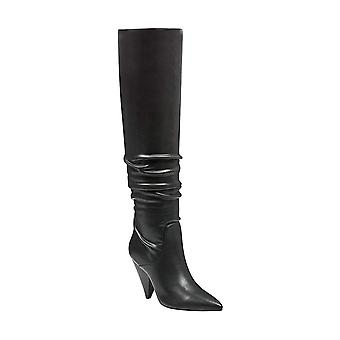 Indigo Rd. Womens Fayen2 Leather Pointed Toe Over Knee Fashion Boots