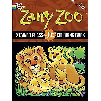 Zany Zoo: gebrandschilderd glas Jr. kleurboek