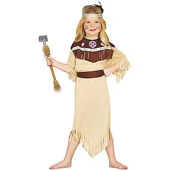 Girls Native American Cherokee Indian Fancy Dress Costume