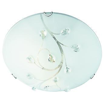 Cromo y cristal gran ras techo Light - reflector 2140-40