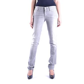 7 For All Mankind Ezbc110009 Women's Grey Cotton Jeans
