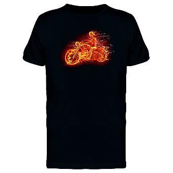 Flammes squelettes dans une moto Tee homme-Image de Shutterstock