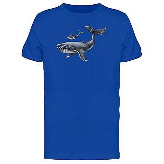Großer Wal und kleine Wale T-Shirt Herren-Bild von Shutterstock
