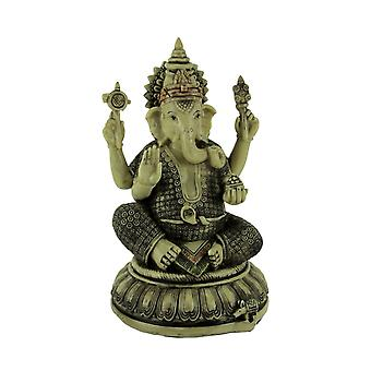 Lord Ganesha On Lotus Flower Statue