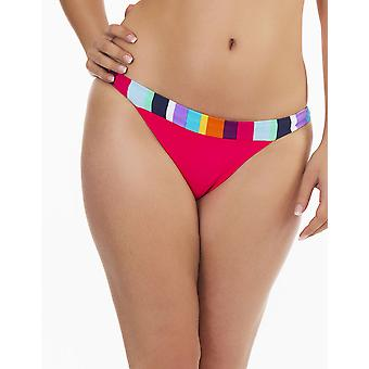 Womens Mio simma mångfärgad Stripe Print damer bada botten NWT