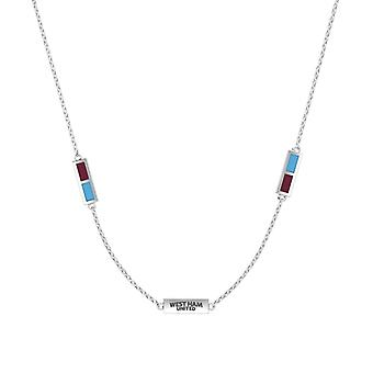 West Ham United FC Pendant Necklace In Sterling Silver Design by BIXLER