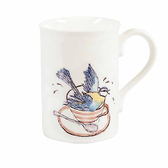 Mellor Ware Bird Bath Design Mug