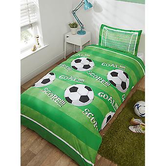Goal Football Duvet Cover and Pillowcase Set