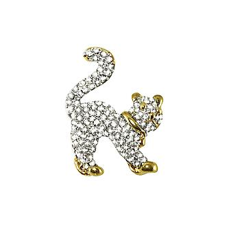 Eeuwige collectie Milo de Kitten Oostenrijkse Crystal Gold Tone kat broche