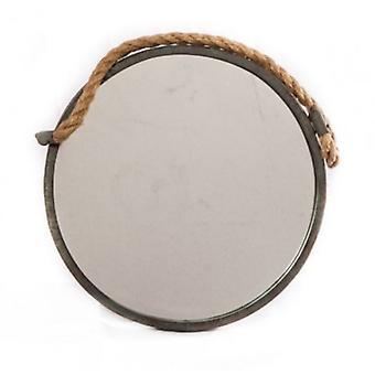 Væg spejl metal runde