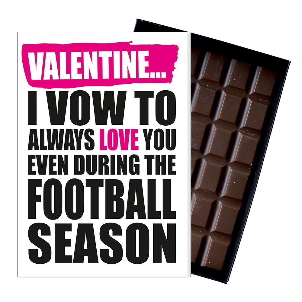 Funny Valentine Football Soccer Player Men Women Chocolate Greeting Card IYF174