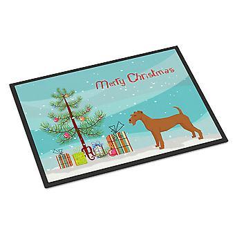 Irish Terrier Christmas Tree Indoor or Outdoor Mat 18x27