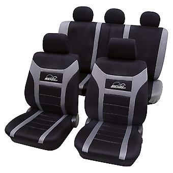 Grey & Black Car Seat Covers For Opel Ascona