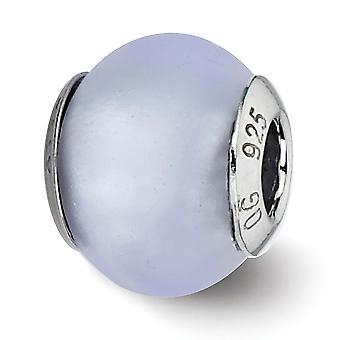925 prata esterlina polido acabamento fosco acabamento antigo italiano vidro de Murano reflexões luz azul fosco italiano Muran