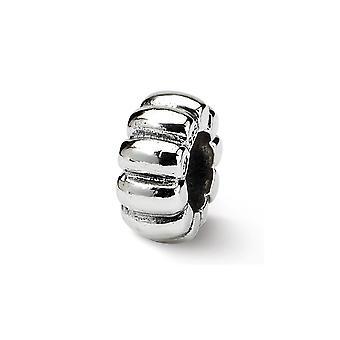 925 Sterling Silver Refleksioner flosset Spacer Bead Charm Pendant Halskæde smykker Gaver til kvinder