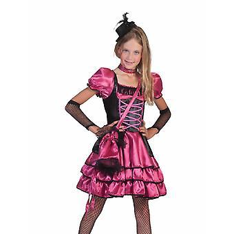 Can Can Camile Saloon Kleid Mädchen Wild West Kostüm Karneval Fasching Kinderkostüm
