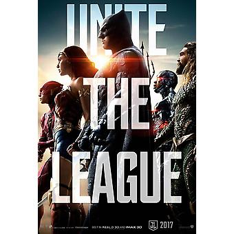 Justice League Original Movie Poster Unite The League Advance Style