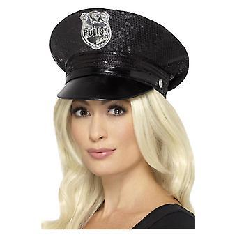 Womens Sequin Police chapeau accessoire déguisements