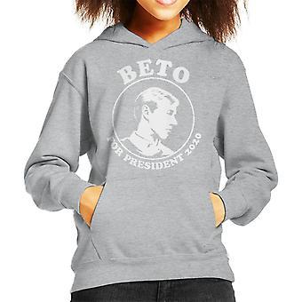 Beto O'Rourke For President 2020 Kid's Hooded Sweatshirt