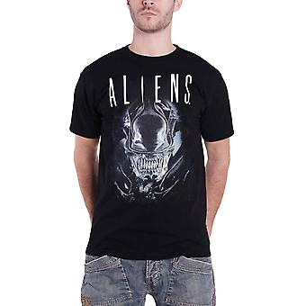 Aliens T Shirt Say Cheese Graphic Logo nuevo Official Mens Black