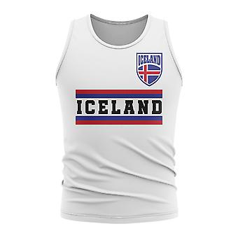 Iceland Core Football Country Sleeveless Tee (White)