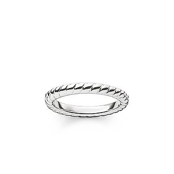 Thomas Sabo Sterling Silver Thomas Sabo Silver Cord Look Ring TR1978-001-12
