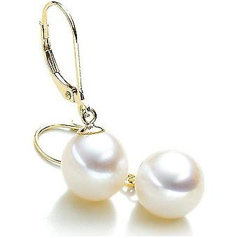 Luna-Pearls Pearl Earrings Freshwater Pearls 9.5-10 mm 585 Yellow Gold 1022082
