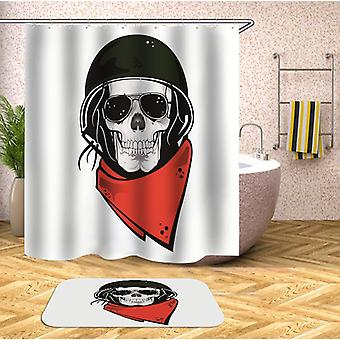 Sunglasses Soldier Skull Shower Curtain