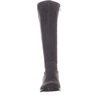NOTFOUND Womens Elsa Leather Almond Toe Knee High Fashion Boots