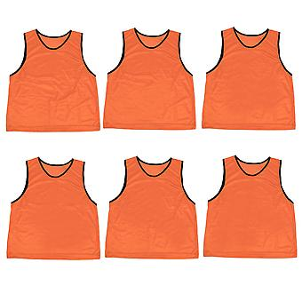 6-pack Adult Scrimmage Pinnies, Orange