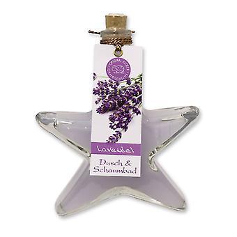 Florex shower and bubble bath bath additive lavender in decorative fir glass 200 ml