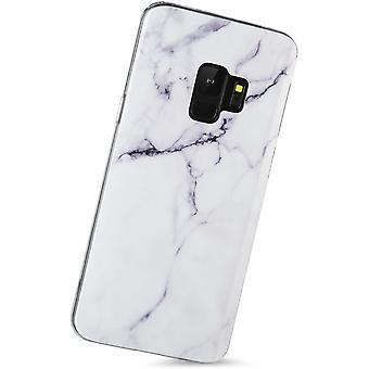 Samsung Galaxy S9+ | Soft, White Marble Case