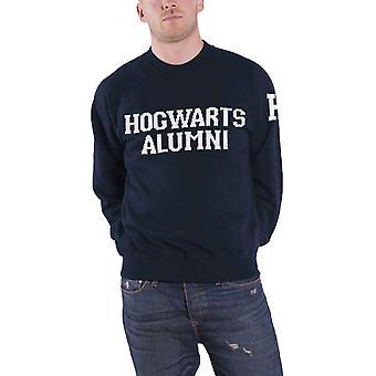 Harry Potter Sweatshirt Hogwarts Alumni Logo Official Mens New Navy Blue Knitted