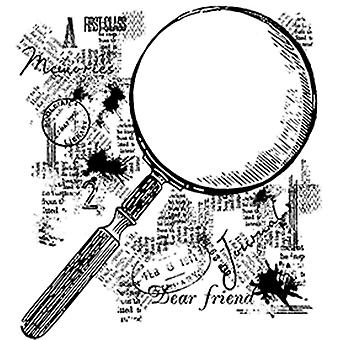 Woodware Clear Singles - Magnifying Glass Stamp