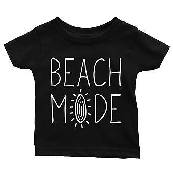 365 Printing Beach Mode Baby Graphic T-Shirt Gift Black Funny Tee Baby Shower