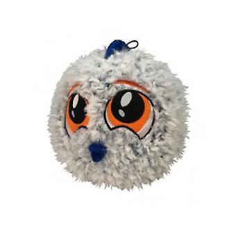 "Petlou 9"" PL Fuzzy Ball Fish Dog Toy"
