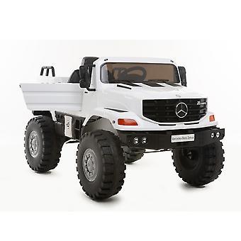 Carro elétrico das crianças Mercedes Zetros, assento de couro, MP3, rádio, amortecedor, luzes