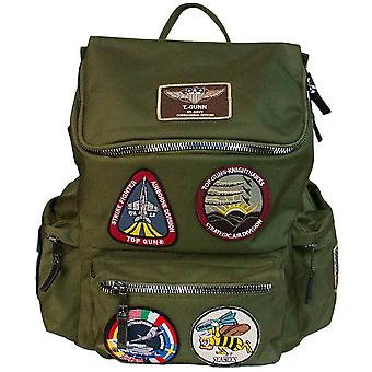 Top Gun Backpack With Patches Green